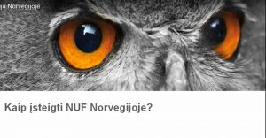 Viskas apie NUF Norvegijoje